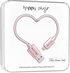 Happy Plugs Micro-USB Cable 2M, Pink Gold