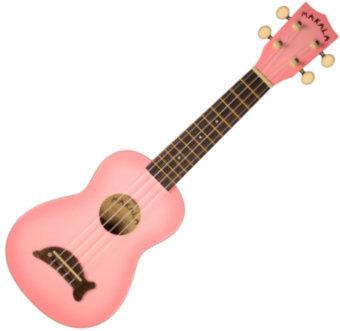 Kala Makala Soprano Ukulele Pink Burst with Non Woven Bag