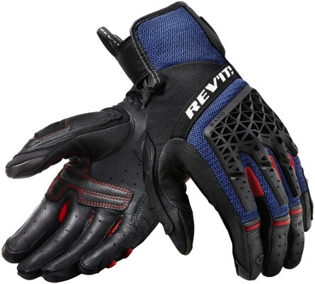 Rev'it! Gloves Sand 4 Black/Blue XXL