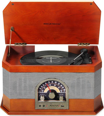 Ricatech RMC82 All in 1 turntable Classic Dark