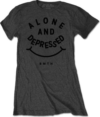 Bring Me The Horizon Alone And Depressed T-Shirt Charcoal XL