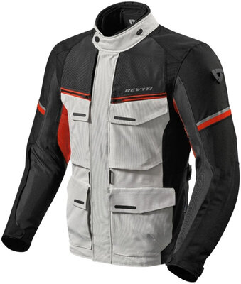 Rev'it! Jacket Outback 3 Silver/Red XXL