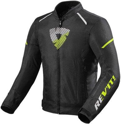 Rev'it! Jacket Sprint H2O Black/Neon Yellow XL