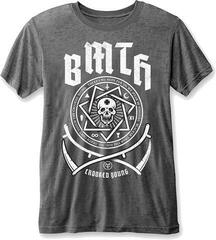 Bring Me The Horizon BMTH Crooked Young Mens T-Shirt Burnout Charcoal