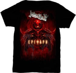 Judas Priest Epitaph Red Horns Mens T Shirt: XL