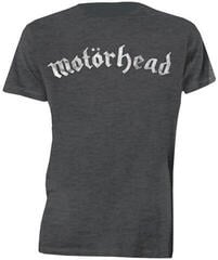 Motörhead Distressed Logo Mens Charcoal T Shirt: L