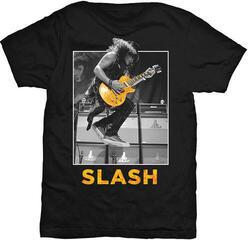 Slash Guitar Jump Mens Blk T Shirt: L