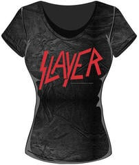Slayer Classic Logo Acid Wash T Shirt: L