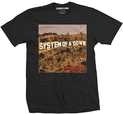System of a Down Toxicity Mens Blk T Shirt: L