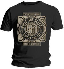 While She Sleeps This Is The Six Mens T-Shirt Black