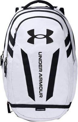 Under Armour Hustle 5.0 Backpack White/Black/Black