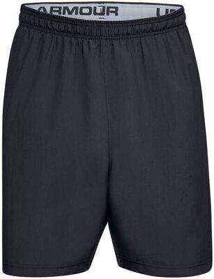 Under Armour Woven Wordmark Mens Shorts Black/Zinc Gray M