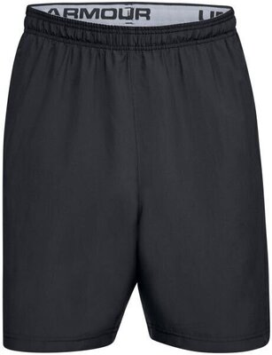 Under Armour Woven Wordmark Mens Shorts Black/Zinc Gray XL