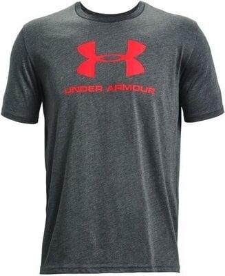 Under Armour Sportstyle Logo Mens Short Sleeve Pitch Gray Medium Heather/Beta S