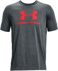 Under Armour Sportstyle Logo Mens Short Sleeve Pitch Gray Medium Heather/Beta 2XL