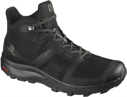 Salomon OUTline Prism Mid GTX Black/Black/Castor Gray 10,5 UK