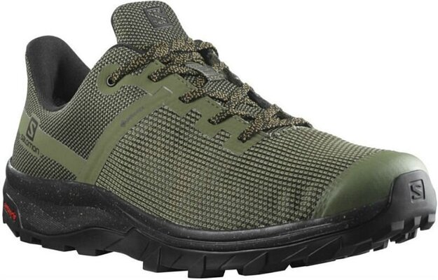 Salomon OUTline Prism GTX Deep Lichen Green/Black/Cumin 9 UK