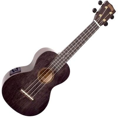 Mahalo Electric-Acoustic Concert Ukulele Transparent Black