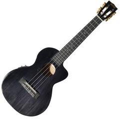 Mahalo Electric-Acoustic Hano Tenor Ukulele Cutaway Trans Black
