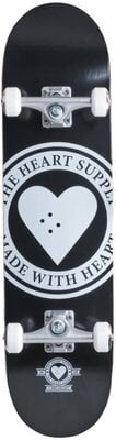 Heart Supply Logo Skateboard Complete 7,75'' Badge/Black