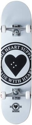 Heart Supply Logo Skateboard Complete 8'' Badge/White