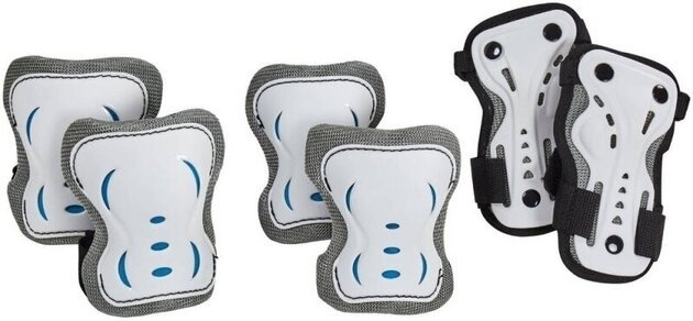 HangUp Scooters Kids Skate Pads Set L 3 Piece White