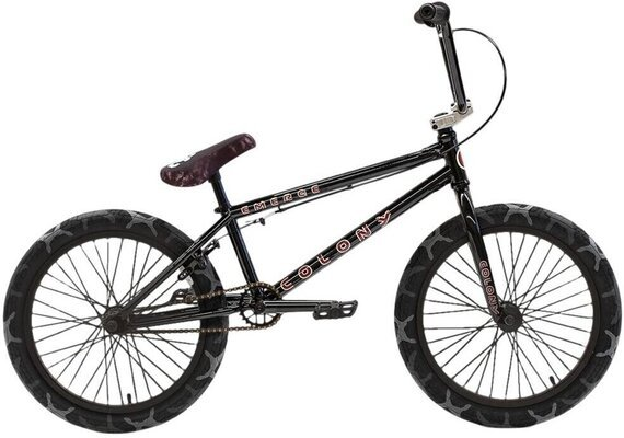 Colony Emerge BMX 20'' Gloss Black/Grey Camo Tyres 2021