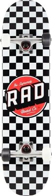 RAD Checkers 7,75'' Skateboard Complete Black