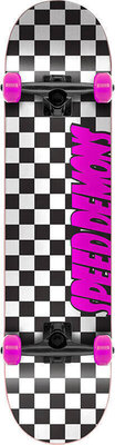 Speed Demons Checkers Skateboard Complete 7,25'' Checkers Pink
