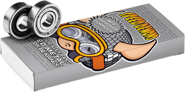 Speed Demons ABEC-5 Bearings 8 Pieces Disco