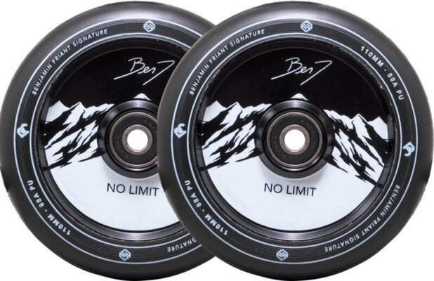 Striker Benj No Limit 110mm Wheel Set Black/Black
