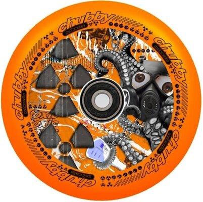 Chubby Lab 110mm Wheel Radioactive Orange