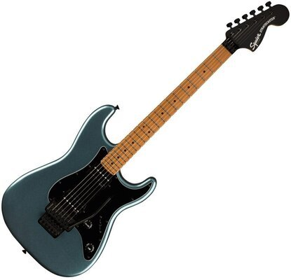 Fender Squier Contemporary Stratocaster HH FR Roasted MN Black Pickguard Gunmetal Metallic