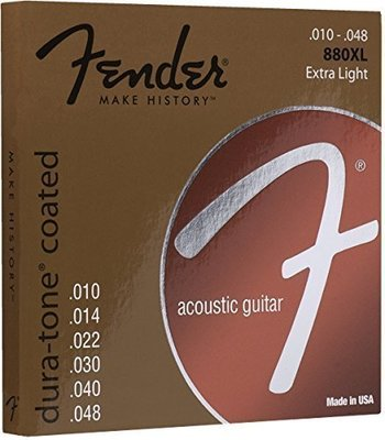 Fender 880XL 80/20 Dura-Tone Coated Acoustic Strings 10-48