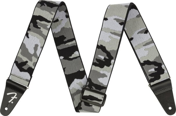 Fender WeighLess 2'' Gray Camo Strap