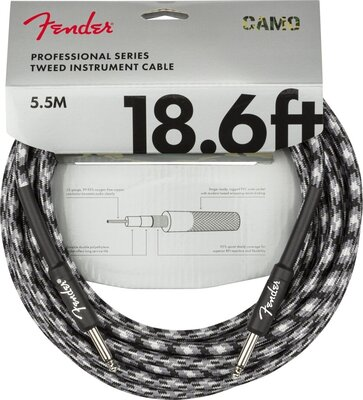 Fender Professional Series Instrument Cable Straight/Straight 18,6' Winter Camo