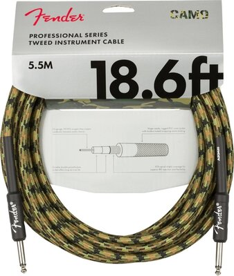 Fender Professional Series Instrument Cable Straight/Straight 18,6' Woodland Camo
