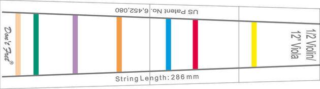 GEWA Fingerboard marking Don't Fret 1/8 Violin