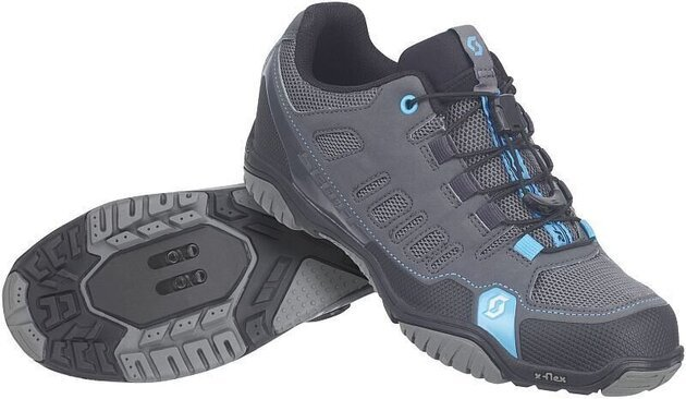 Scott Sport Crus-r Lady Anthracite/Neon Blue 38