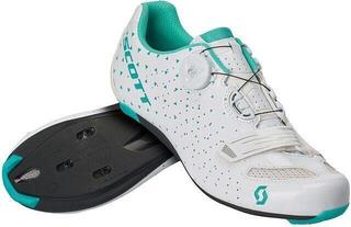 Scott Road Comp BOA Lady Gloss White/Turquoise Blue 37