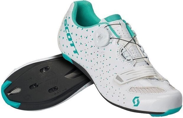 Scott Road Comp BOA Lady Gloss White/Turquoise Blue 40