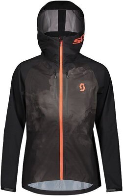 Scott Men's Trail Storm WP Jacket Black/Orange Pumpkin XXL