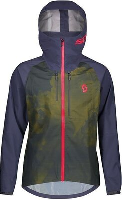 Scott Men's Trail Storm WP Jacket Blue Nights/Wine Red L