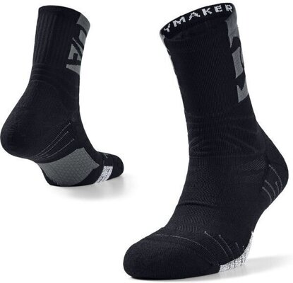 Under Armour Playmaker Mid Crew Socks Black/Pitch Gray/Black L