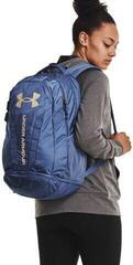 Under Armour Hustle 5.0 Backpack Mineral Blue/Mineral Blue/Metallic Faded Gold