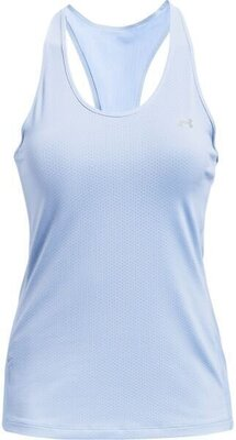 Under Armour HG Armour Racer Tank Womens Isotope Blue/Metallic Silver XS