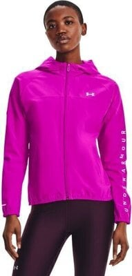 Under Armour Woven Hooded Jacket Womens Meteor Pink/White L