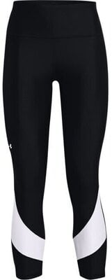Under Armour HG Armour Taped 7/8 Womens Leggings Black/White/White L
