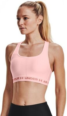 Under Armour Crossback Mid Womens Bra Beta Tint/Beta Tint/Stardust Pink XL
