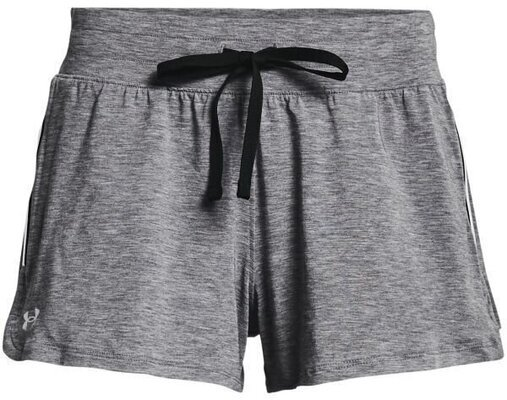 Under Armour Recover Sleep Womens Shorts Black Fade Heather/Metallic Silver XS